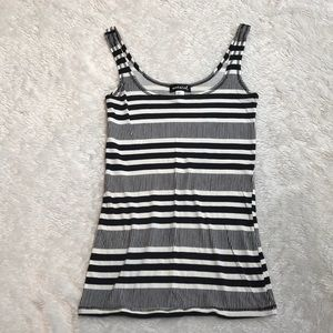 Striped tank. Worn once
